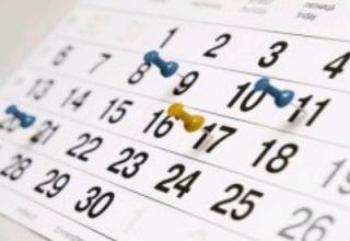 All events listed in date order