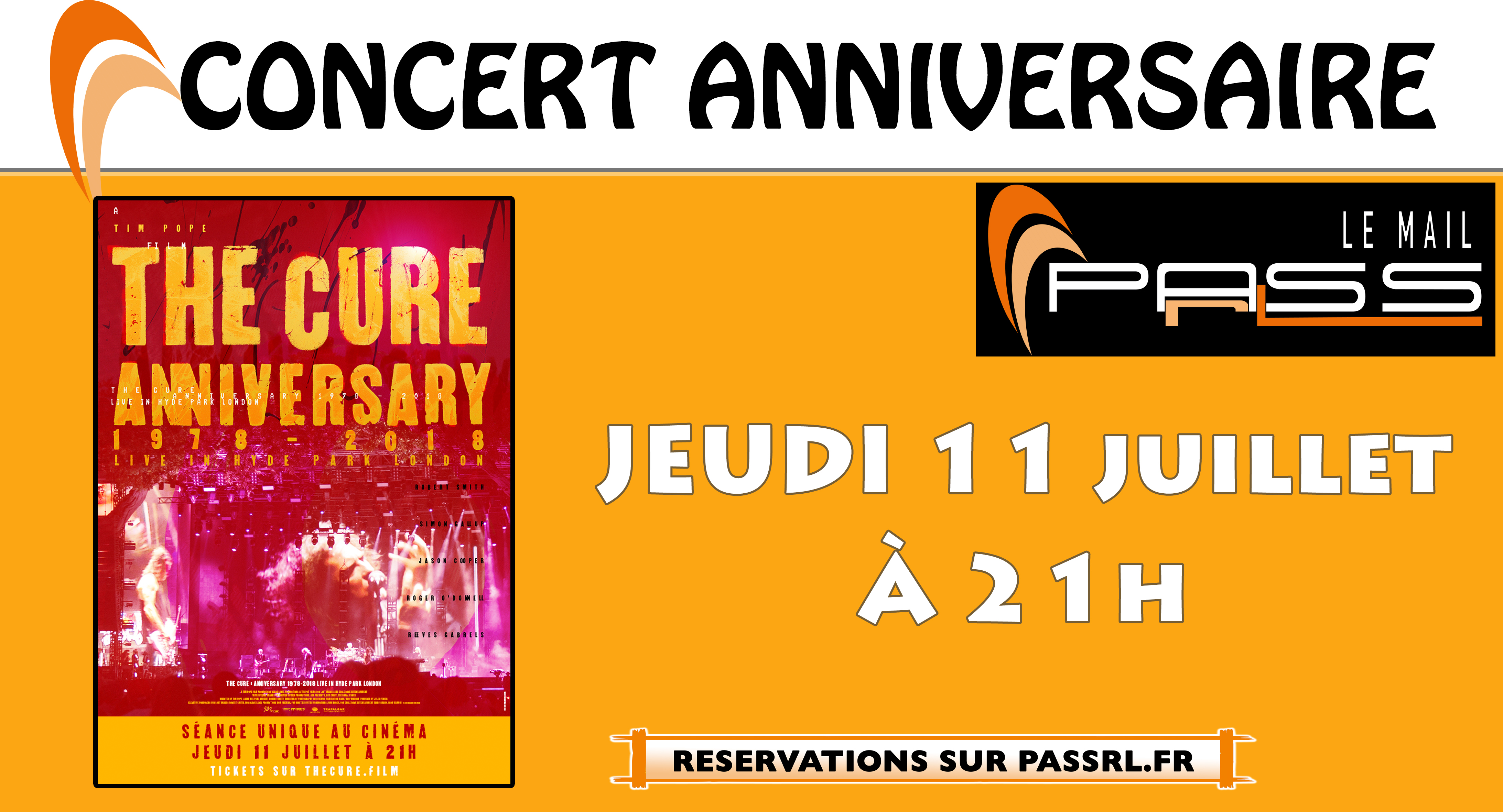 Projection Concert Anniversaire The Cure In Voiron